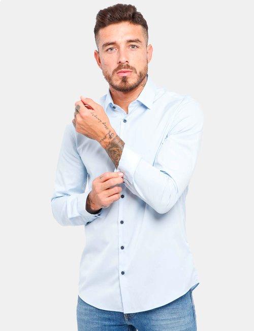 Camicia Calvin Klein in cotone - Azzurro