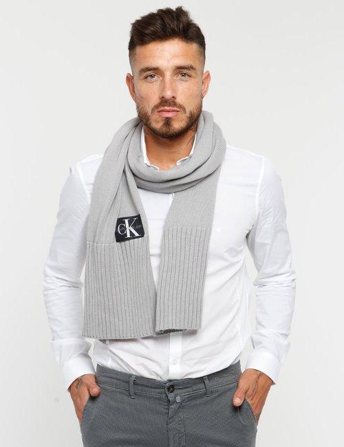 Sciarpa Calvin Klein con logo - Grigio