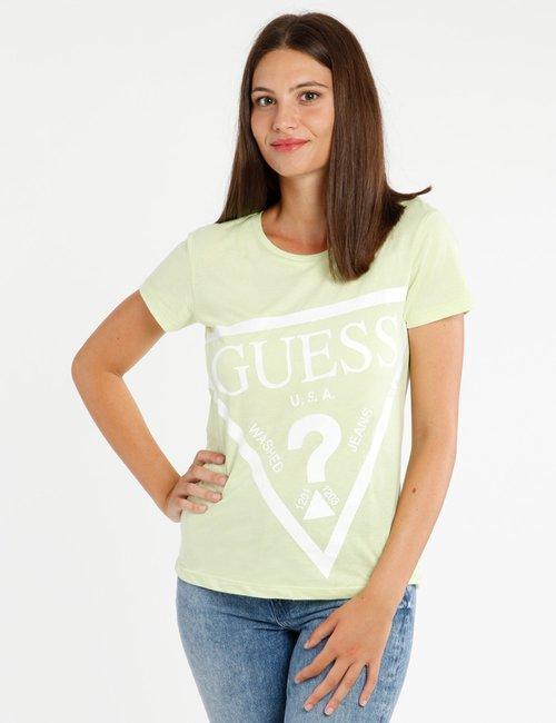 T-shirt Guess con maxi logo stampato - Verde