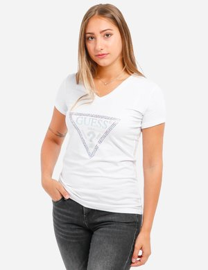 T-shirt Guess con strass multicolor