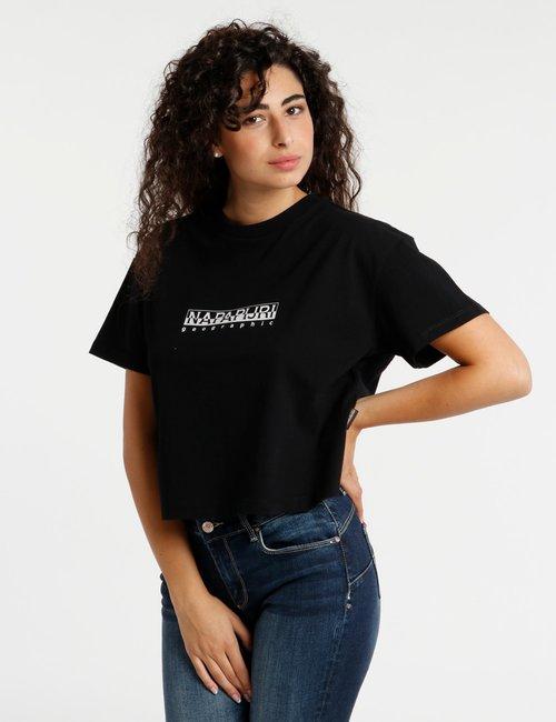 T-shirt Napapijri cropped - Nero