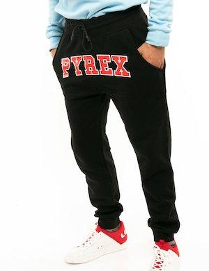 Pantalone Pyrex con logo a contrasto