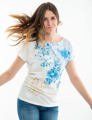T-shirt Desigual con scollo ampio