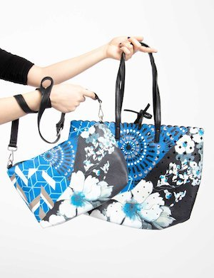 Borsa  shopper Desigual reversibile 2 in 1