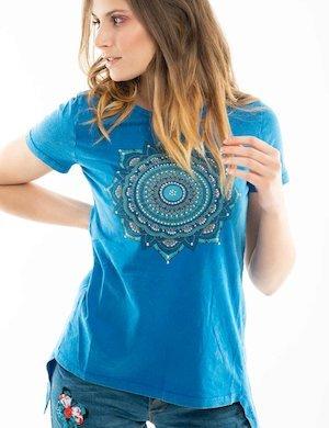 T-shirt Desigual con borchie e grafica