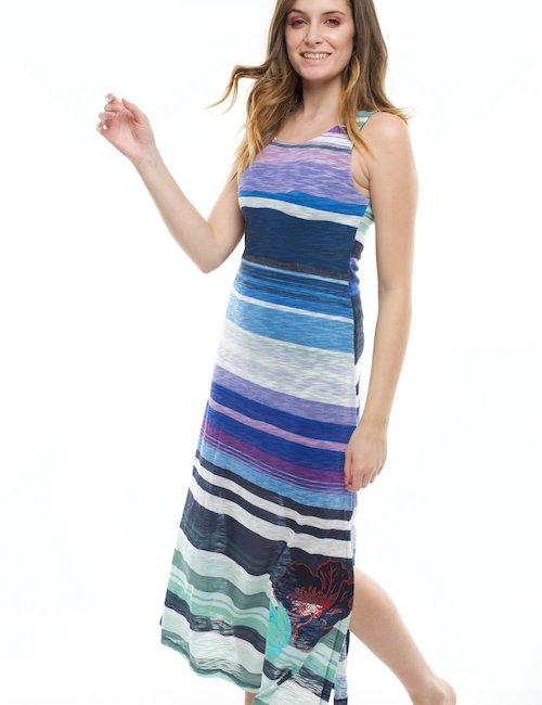Vestito Desigual lungo senza maniche - Fantasia