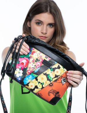 Borsa Desigual in ecopelle patchwork