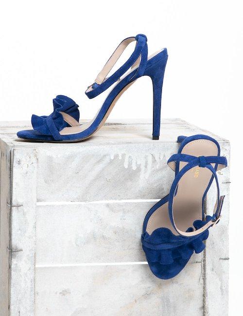Sandalo Marciano scamosciato - Blu