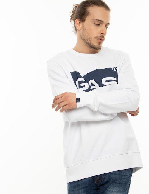 Felpa Gas in cotone con logo - Bianco