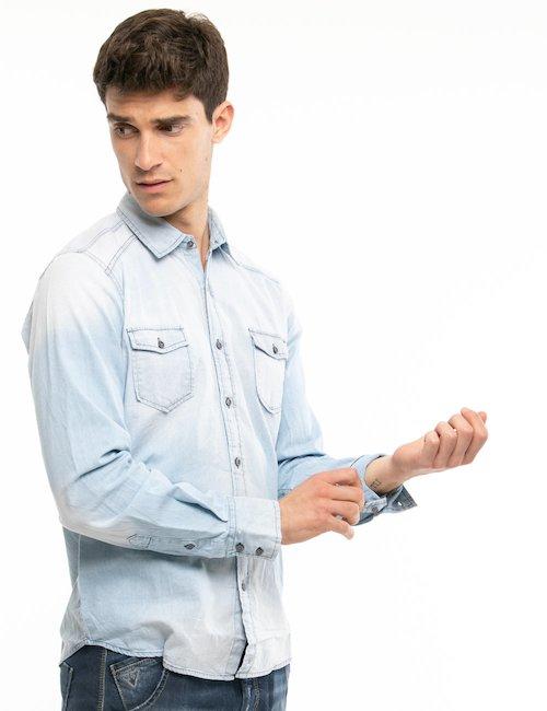 Camicia Fifty Four a maniche lunghe - Azzurro