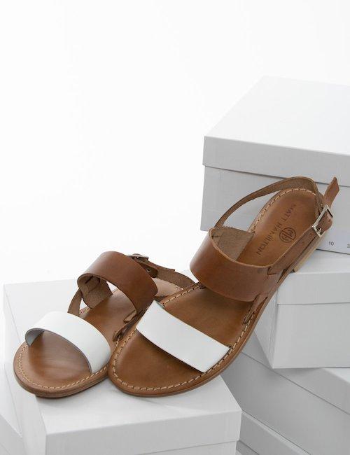 Sandalo Matt Hamilton in cuoio - Bianco
