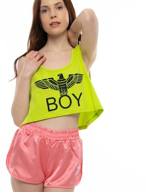 Shorts  Boy London con logo di strass