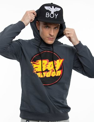 Felpa Boy London con cappuccio