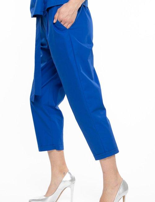 Pantalone Vougue 3/4 con risvolto - Blu