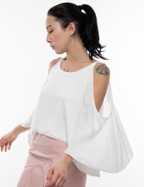 Top Yes Zee off the shoulder - Bianco