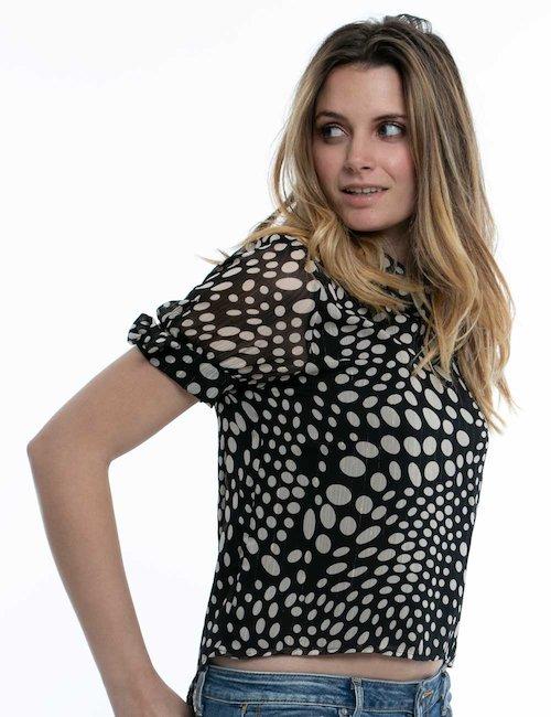 Camicia Yes Zee a maniche corte - Nero