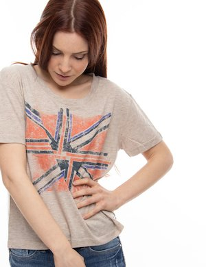 T-shirt Pepe Jeans con stampa bandiera inglese
