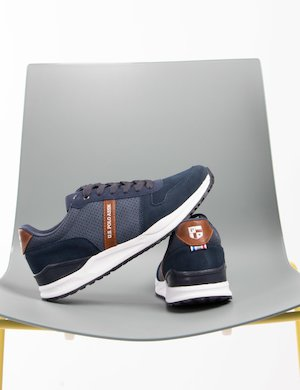Sneakers U.S. Polo Assn. in ecopelle scamosciata