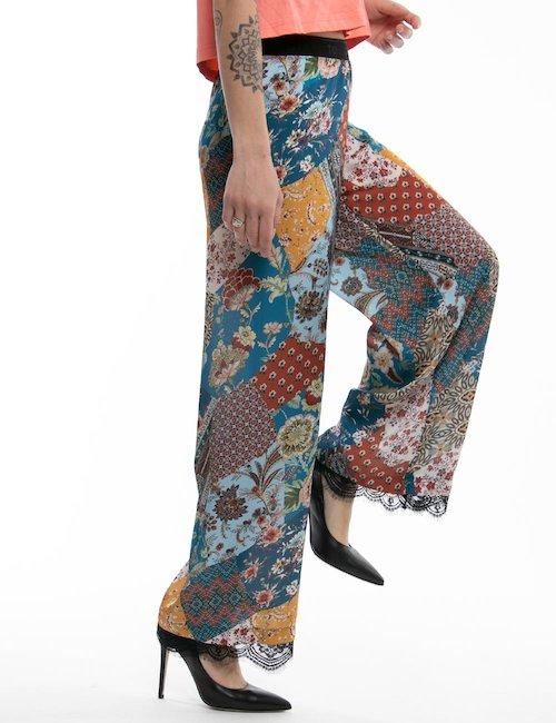 Pantalone palazzo TOY G stampa etnica - Fantasia