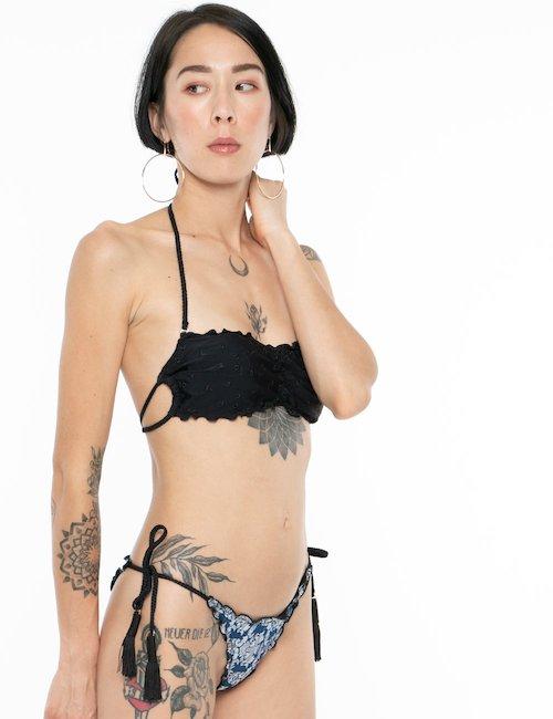 Costume F**K bikini slip in denim - Jeans
