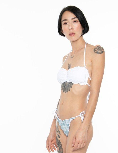 Costume F**K bikini denim chiaro - Jeans