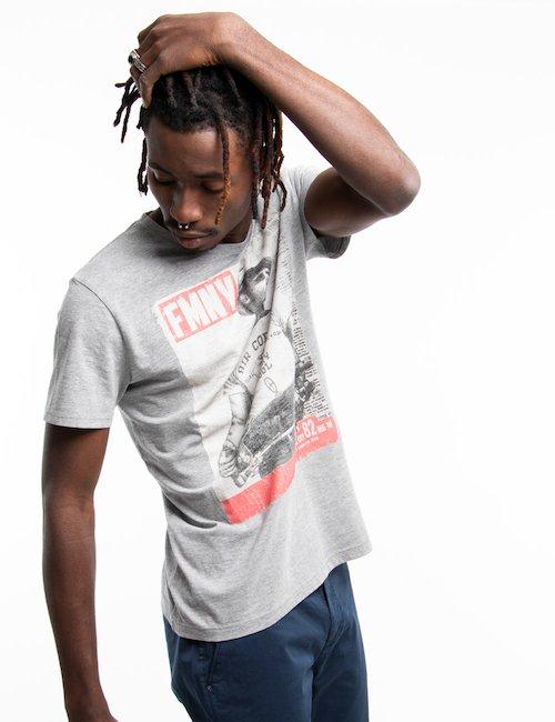 T-shirt Fred Mello con grafica - Grey