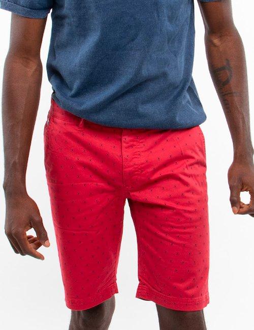 Bermuda Fred Mello con crocette - Rosso