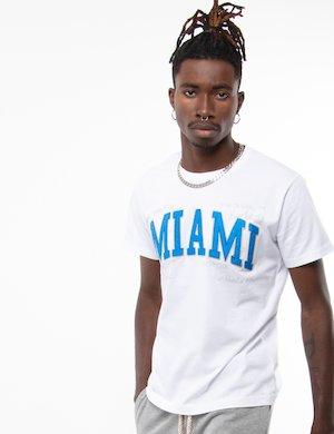T-shirt Fred Mello in cotone con scritta