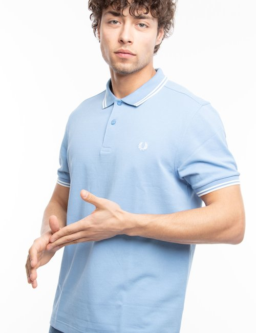 Polo Fred Perry con doppia riga - Lite Blue