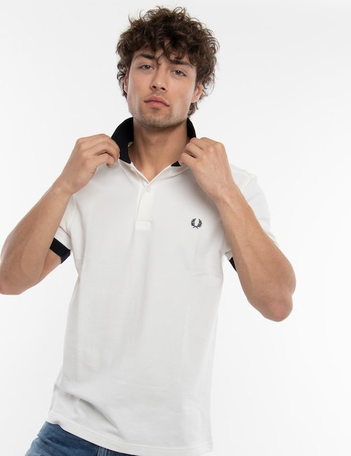 Polo Fred Perry bicolore - White
