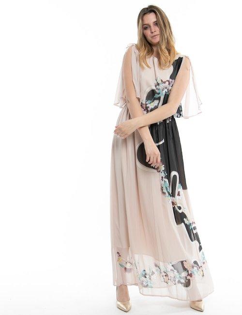 Vestito lungo Fracomina stampato - Pink_Multicolor
