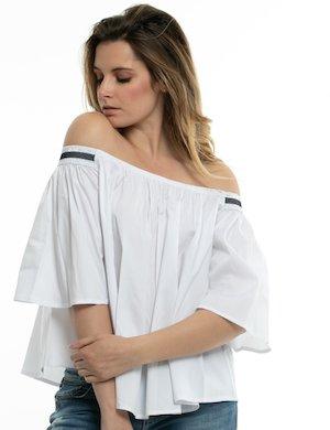 Camicia Fracomina con scollo arricciato