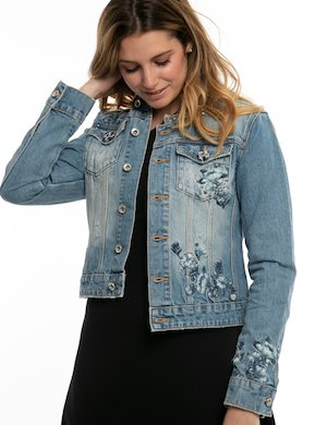 Giacca  in jeans Fracomina con ricami