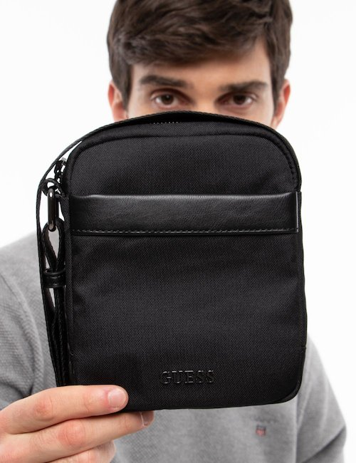 Borsa Guess a tracolla - Black_Turquoise