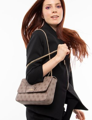 Borsa  Guess all-over con tracolla