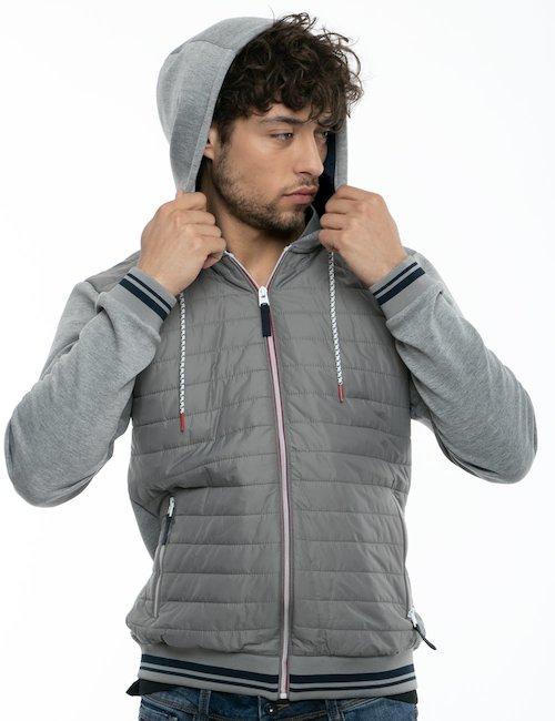 Giubbino Yes Zee con full zip e cappuccio - Grey