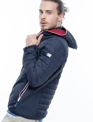 Piumino Yes Zee con cappuccio e full-zip