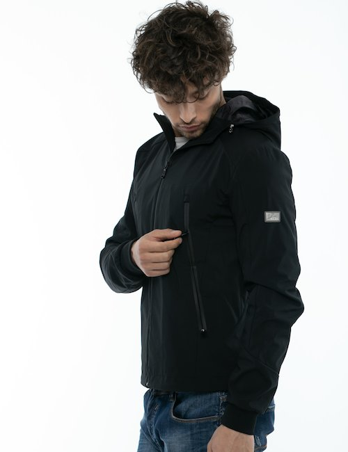 Giubbino Yes Zee con cappuccio e full zip - Nero
