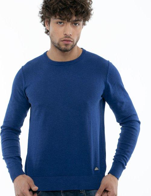 Maglia girocollo Yes Zee in cotone - Blue_Pearl