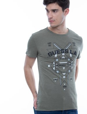 T-shirt Guess in cotone con stampa