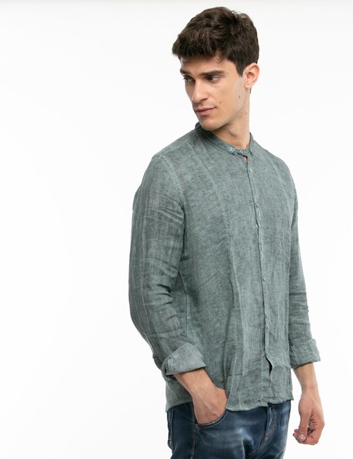 Camicia Fifty Four in lino - Grigio