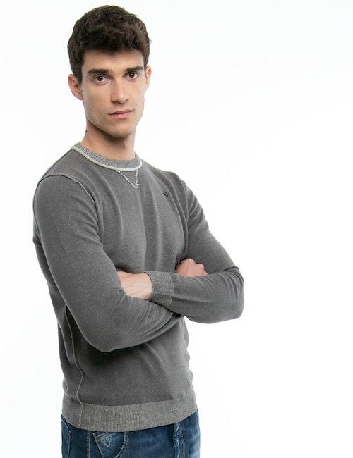 Pullover Fifty Four con cuciture al contrario - Grey
