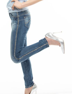 Jeans Yes Zee skinny con strass