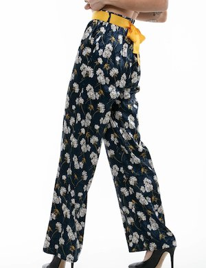 Pantalone a palazzo Yes Zee stampato