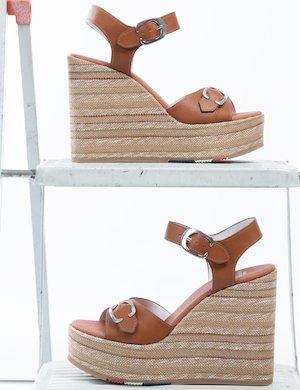 Sandalo U.S. Polo Assn. con zeppa in corda