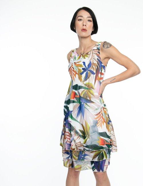 Vestito Vougue fantasia floreale - Bianco
