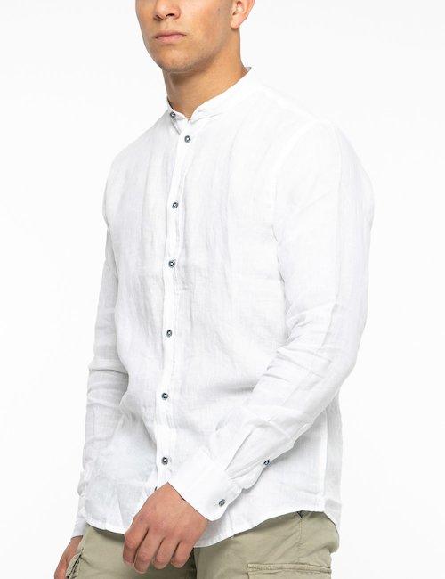 Camicia Smiling London tinta unita - White