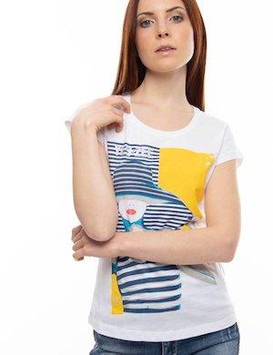 T-shirt Yes Zee con grafica e glitter