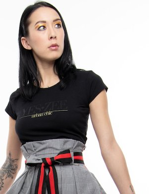T-shirt Yes Zee con perline