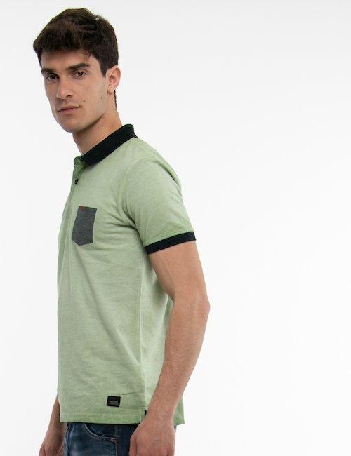 Polo Yes Zee con taschino - Green